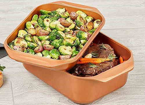 Copper Chef Wonder Cooker Set Grill and Roasting Pan