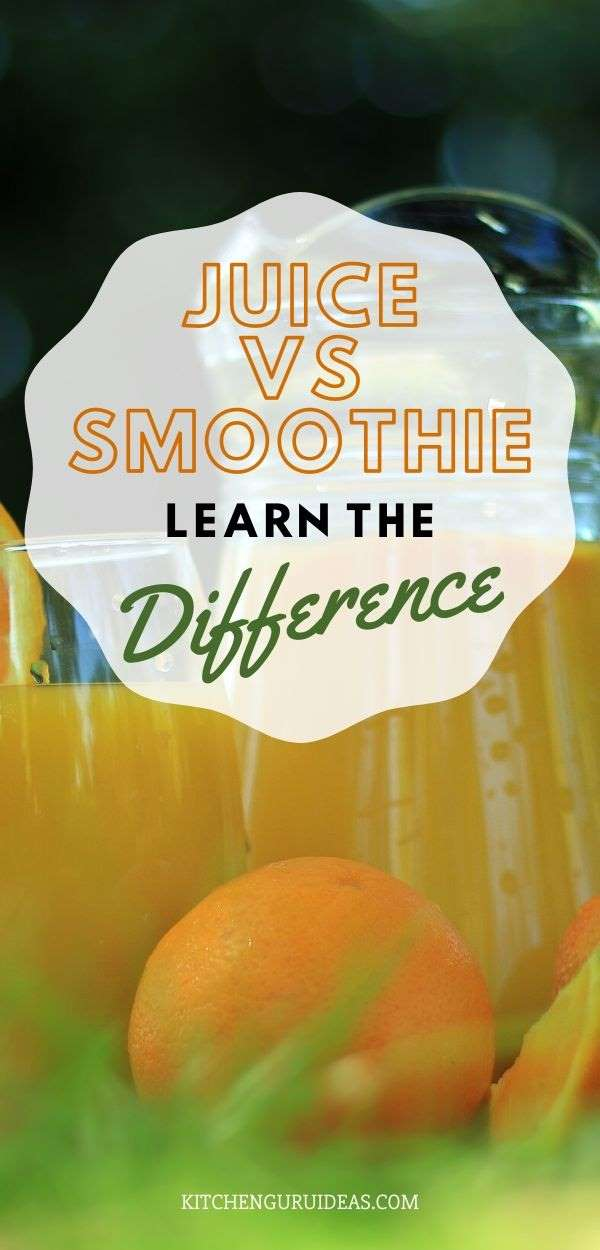 what is the difference between juice and a smoothie