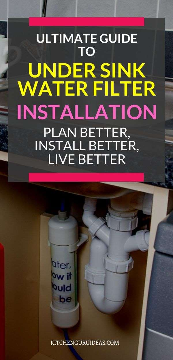under sink water filter installation