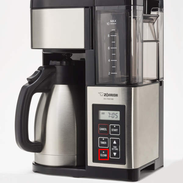coffee maker with clean program