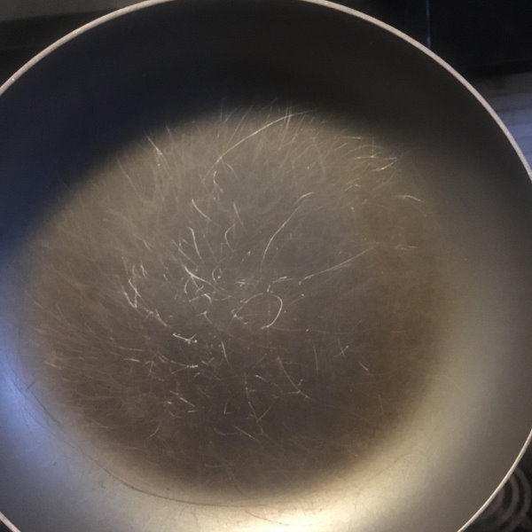 scratched nonstick pan