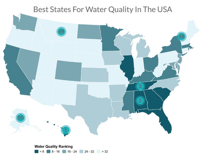 water quality us map