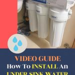 how to install an under sink water filter