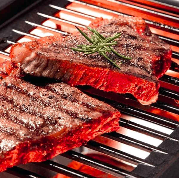 searing steaks on infrared grill