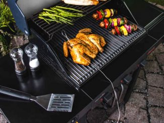 barbecuing on infrared grill