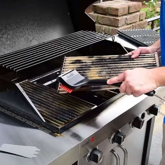 cleaning infrared grill