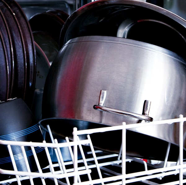 cookware in dishwasher