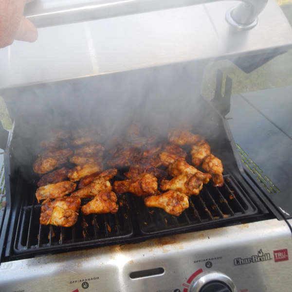 cooking chicken on an infrared grill