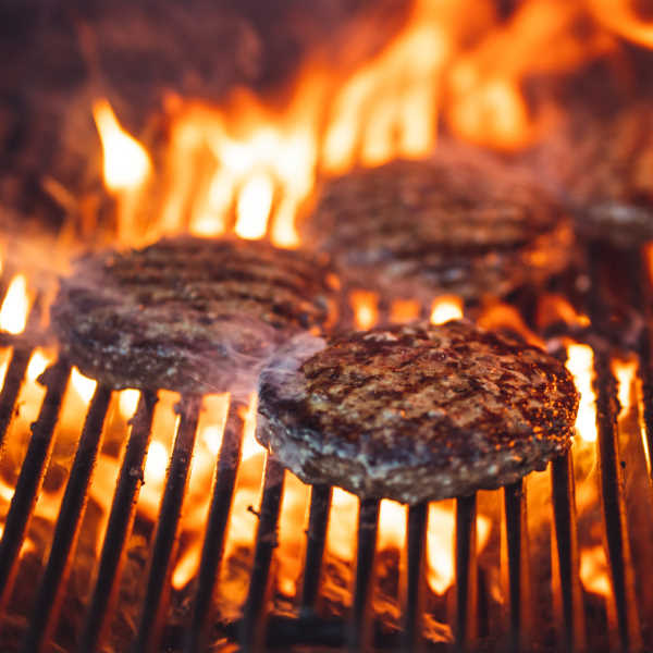 grilling burgers on high heat