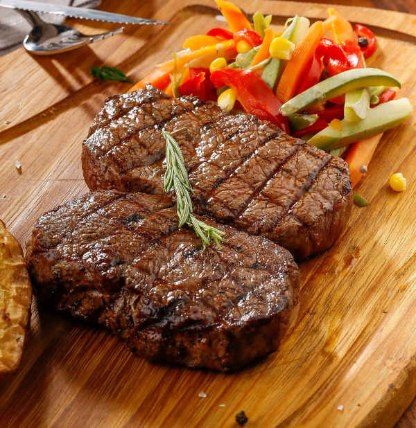 juicy grilled steak