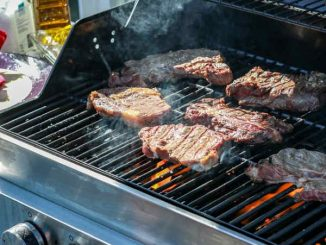 searing steaks on gas grill