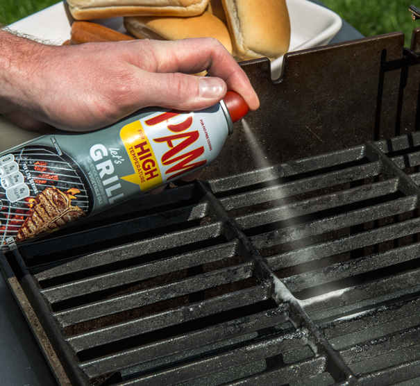seasoning grill grates with pam