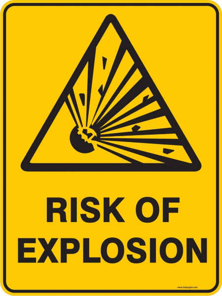 explosion warning sign