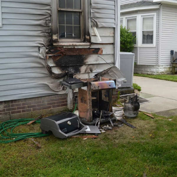 gas grill house fire
