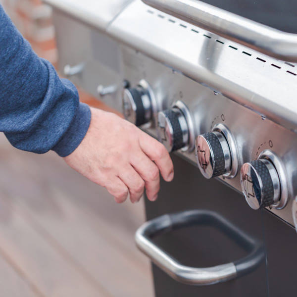 igniting gas grill