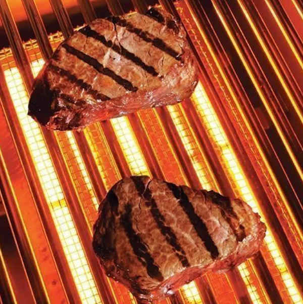 steak on infrared grill