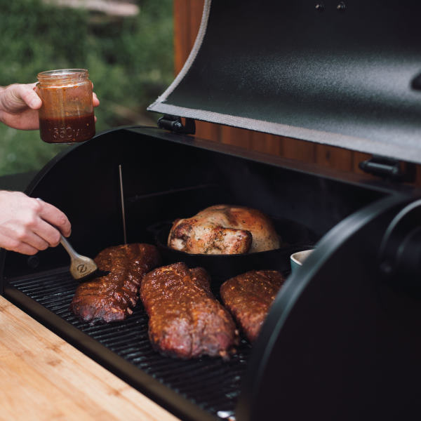 cooking on z-grills pellet grill