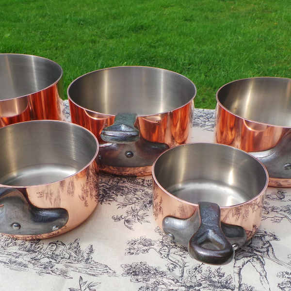 copper-cookware with steel lining