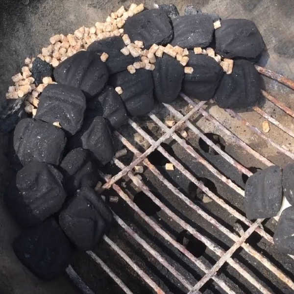 pellets in charcoal grill