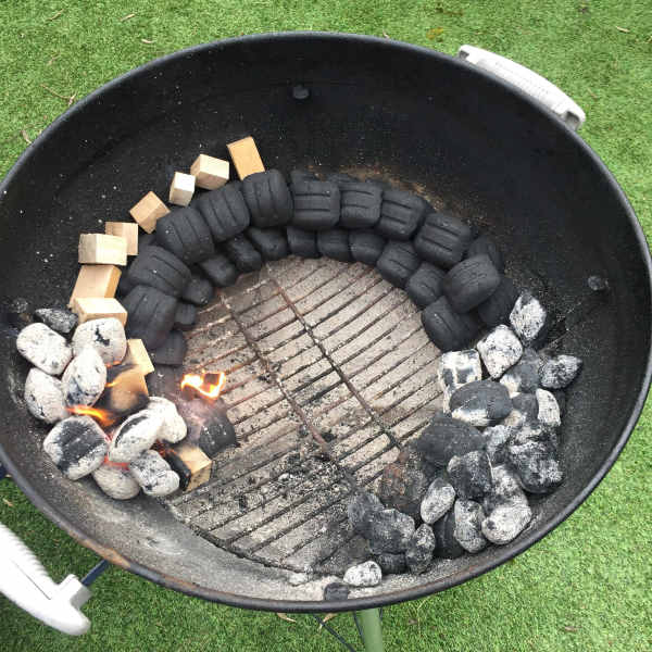 snake method charcoal grill