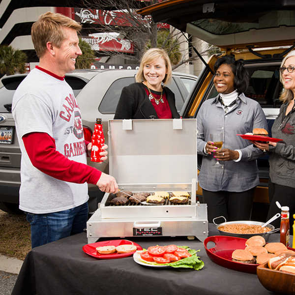 infrared grill tailgating party